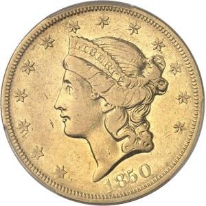 République fédérale des États-Unis d'Amérique (1776-à nos jours). 20 dollars Liberty, sans devise 1850, O, La Nouvelle-Orléans.