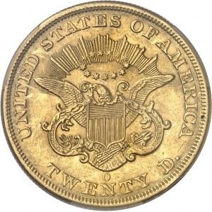 République fédérale des États-Unis d'Amérique (1776-à nos jours). 20 dollars Liberty, sans devise 1851, O, La Nouvelle-Orléans.
