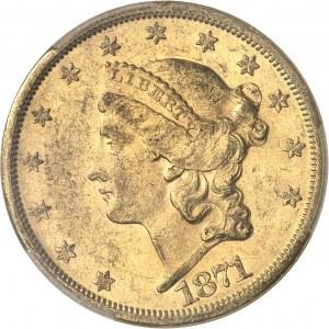 République fédérale des États-Unis d'Amérique (1776-à nos jours). 20 dollars Liberty 1871, S, San Francisco.