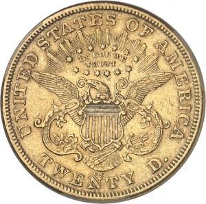 République fédérale des États-Unis d'Amérique (1776-à nos jours). 20 dollars Liberty 1873, CC, Carson City.