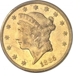République fédérale des États-Unis d'Amérique (1776-à nos jours). 20 dollars Liberty 1885, Philadelphie.