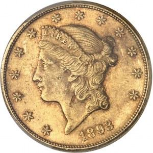République fédérale des États-Unis d'Amérique (1776-à nos jours). 20 dollars Liberty 1893, CC, Carson City.
