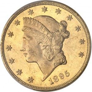 République fédérale des États-Unis d'Amérique (1776-à nos jours). 20 dollars Liberty 1895, Philadelphie.