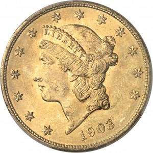 République fédérale des États-Unis d'Amérique (1776-à nos jours). 20 dollars Liberty 1903, Philadelphie.