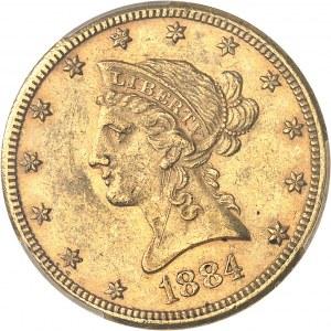 République fédérale des États-Unis d'Amérique (1776-à nos jours). 10 dollars Liberty 1884, CC, Carson City.