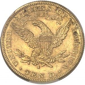 République fédérale des États-Unis d'Amérique (1776-à nos jours). 10 dollars Liberty 1887, S, San Francisco.