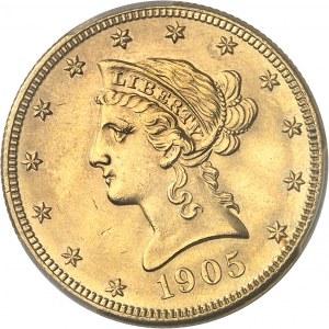 République fédérale des États-Unis d'Amérique (1776-à nos jours). 10 dollars Liberty 1905, S, San Francisco.