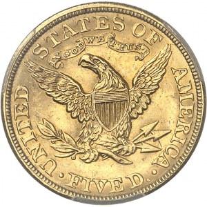 République fédérale des États-Unis d'Amérique (1776-à nos jours). 5 dollars Liberty 1903, Philadelphie.