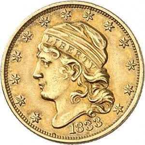 République fédérale des États-Unis d'Amérique (1776-à nos jours). 2 1/2 dollars capped bust 1833, Philadelphie.