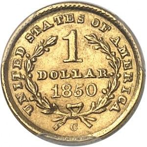République fédérale des États-Unis d'Amérique (1776-à nos jours). 1 dollar Liberty 1850, C, Charlotte.
