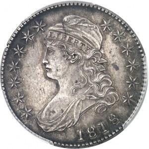République fédérale des États-Unis d'Amérique (1776-à nos jours). 50 cents Liberty 1818, Philadelphie.