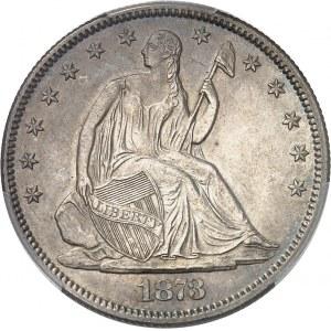 République fédérale des États-Unis d'Amérique (1776-à nos jours). 1/2 dollar à la Liberté assise 1873, Philadelphie.