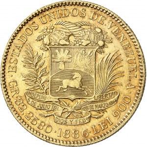 Venezuela (République bolivarienne du) (depuis 1811). 100 bolivares 1886, Caracas.