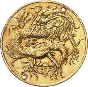 Annam, Duy Thaï (1907-1916). 8 tiên Or ou philong au dragon (Kim-tiên de 1ère classe), au nom de Thành Thaï, par Pierre ND (1908), Hué.