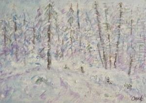 Wilhelm Wilk Ossecki, Pejzaż zimowy