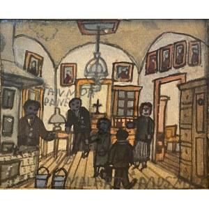 Nikifor Krynicki Scena we wnętrzu, lata 30. XX w.
