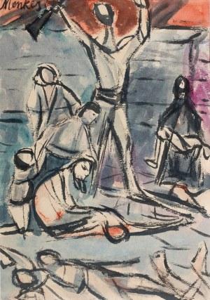 Zygmunt Menkes (1896 Lwów - 1986 Riverdale), Kompozycja z postaciami
