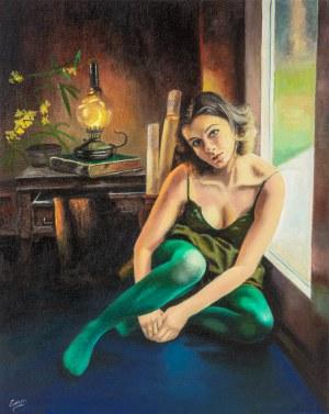 Erazm Wilczkiewicz, Dziewczyna w zielonych rajstopach