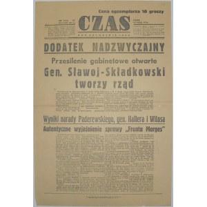 Czas - Nowy Rząd I Sprawa Frontu Morges, 15 maja 1936