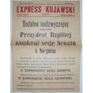 Exp. Kujawski-Zamk. sesji Sejmu, 14.07.1927