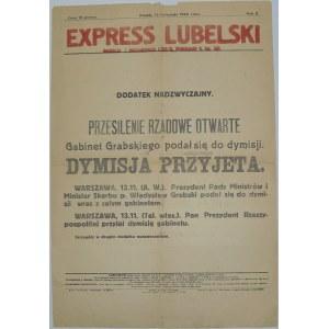 Exp. Lubelski-Dymisja rządu Grabskiego,13.11.1925