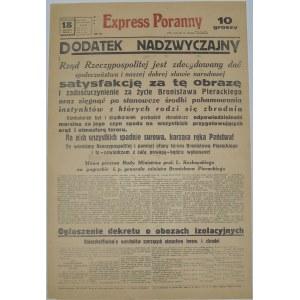 Express Poranny - Pogrzeb B. Pierackiego, 18 czerwca 1934 r.