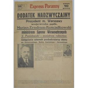 Express Poranny - Zmiany W Rządzie - 28 czerwca 1934 r.