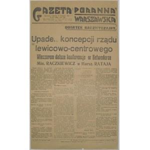Gaz. Por. Warszawska - Zmiana Rządu, 15.11. 1925