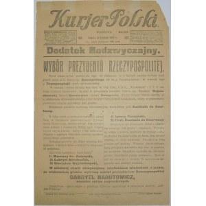 Kurjer Polski - Narutowicz Prezydentem, 9 Grudnia 1922 r.