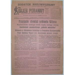 Kurjer Poranny - Dymisja Rządu Witosa, 15 Grudnia 1923