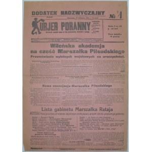 Kur. Por. - Akademia Na Cześć Piłsudskiego, 19.11. 1925