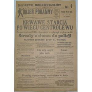 Kurjer Poranny - Krwawy Wiec Centrolewu, 14.09.1930