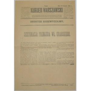 Kurjer Warszawski - Dymisja Rządu Grabskiego, 13.11.1925