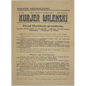 Kurjer Wileński - Przesilenie Rządowe, 25 września 1926 r.