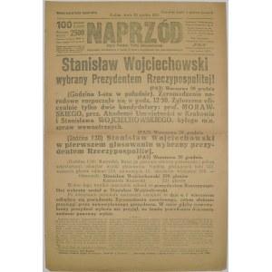 Naprzód - S. Wojciechowski Prezydentem, 20 grudnia 1922