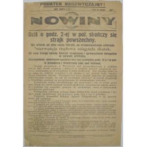 Nowiny - Strajk W Łodzi, 6 grudnia 1924