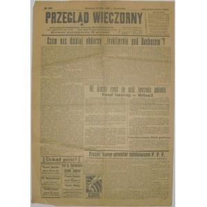 Przegląd Wieczorny - Przesilenie Rządowe, 10.05.1926