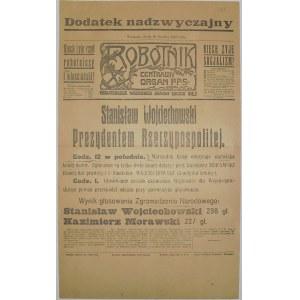 Robotnik - S. Wojciechowski Prezydentem, 20 Grudnia 1922