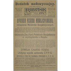 Robotnik - Dymisja Rządu A. Skrzyńskiego, 20.04.1926