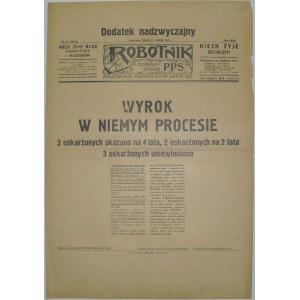Robotnik - Wyrok w Sprawie Centrolewu, 11.02.1931