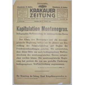 Krakauer Zeitung - Kapit. Czarnogóry, 17.01.1916