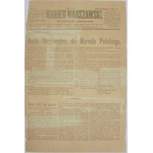 Kurjer Warszawski - Dot. Ukraińskiej Rep. Lud., 14.02.1918