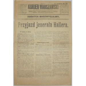 Kurjer Warszawski - Haller W Warszawie, 21 kwietnia 1919
