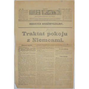 Kurjer Warszawski - Pokój Z Niemcami, 8 maja 1919 rok
