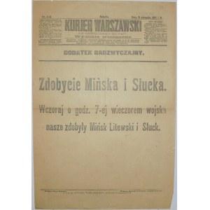 Kurjer Warszawski - Wojna Z Sowietami, 9 sierpnia 1919 rok