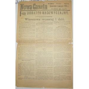 Nowa Gazeta - Zmiana Okupanta Warszawy, 5.08.1915