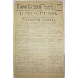 Nowa Gazeta - Nowy Okupant Warszawy, 6.08.1915