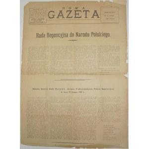 Nowa Gazeta - Dot. Ukraińskiej Rep.lud., 14.02.1918