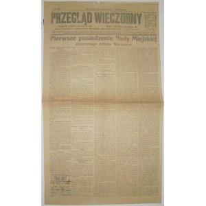 Przegląd Wieczorny - Rada Miasta W-Wy, 24 Lipca 1916 r.