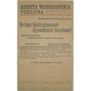Gazeta Warsz. Por. - Wybory Prezydenckie, 31 maja 1926r.